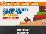 Burger King Cyprus Website Screenshot