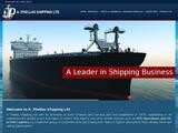 Phellas Shipping Website Screenshot