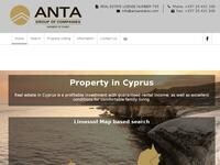Anta Estates Website Screenshot