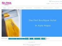So Nice Boutique Suites Website Screenshot