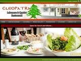 Cleopatra Lebanse Restaurant Website Screenshot
