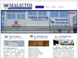 Malactos Insurance Website Screenshot