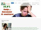 New Hope Website Screenshot