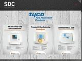 SDC Security Distribution Center Website Screenshot