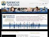 American College Website Screenshot