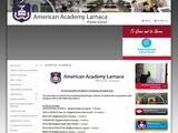 American Academy Larnaca Website Screenshot