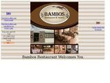 Bambos Restaurant Website Screenshot