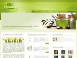 Bioexcellia Natural Cosmetics Website Screenshot