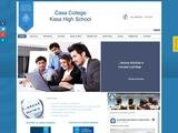 Casa College Website Screenshot