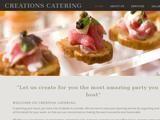 Creations Home Catering Ltd Website Screenshot