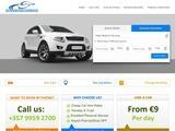 Gak Car Rental Website Screenshot