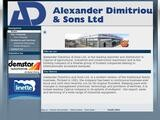 Alexander Dimitriou Website Screenshot
