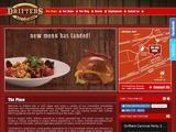 Drifters Bar & Grill Website Screenshot