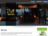 Ilios Beach Bar Website Screenshot