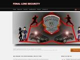 Final Line Security Website Screenshot