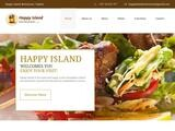 Happy Island Restaurant Website Screenshot