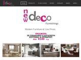 New Deco Furnishings Website Screenshot