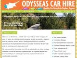 Odysseas Car Rentals Ltd Website Screenshot