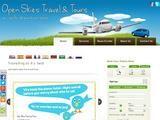 Open Skies Travel Cyprus Website Screenshot