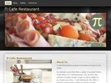 P Cafe Restaurant Website Screenshot