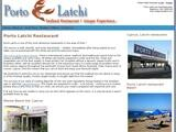 Porto Latchi Restaurant Website Screenshot