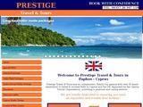 Prestige Travel Website Screenshot