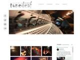 ToneDeaf Studio Website Screenshot