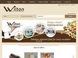 Wilton Finger Food Catering Website Screenshot