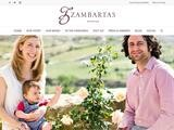 Zambartas Wineries Website Screenshot