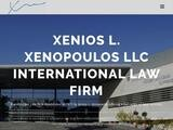 Xenios L Xenopoulos LLC Website Screenshot