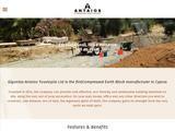 Antaios Compressed Earth Blocks Website Screenshot