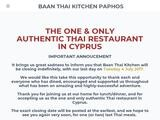 Baan Thai Kitchen Website Screenshot