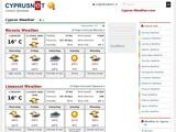 Cyprus Weather Website Screenshot