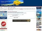 Cyprus Yellow Pages Website Screenshot