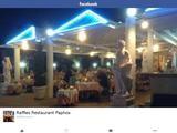 Raffles Restaurant Website Screenshot