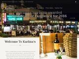 Karlina Restaurant Website Screenshot