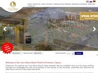 Cavo Maris Beach hotel Website Screenshot