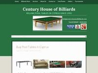 Century House Of Billiards Website Screenshot