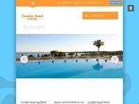 Corallia Beach Hotel Website Screenshot
