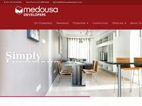 Medousa Developers Website Screenshot