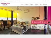 Papanicolaou Blinds Website Screenshot