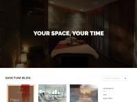 Sanctum Spa & Fitness Website Screenshot
