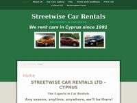 Streetwise Car Rentals Website Screenshot