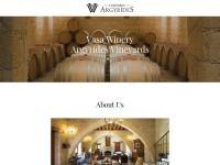 Argyrides Vasa Winery Website Screenshot