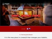 The Executive Bar & Grill Website Screenshot