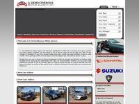 A . Demosthenous Motor Agency Ltd Website Screenshot