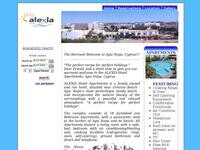 Alexia Hotel Apartments Website Screenshot