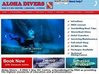 Aloha Divers Website Screenshot