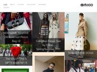 Amicci Website Screenshot