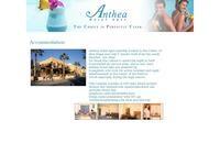 Anthea Hotel Apartments Website Screenshot